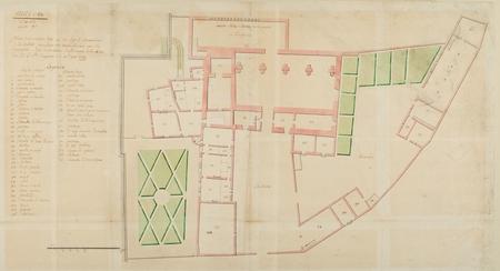 Plan de la maison cotté C ou loge le commandant de la citadelle, pour y fa…