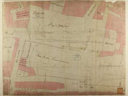 Metz 1783 : alignement du nouveau port projeté en 1758 (…)