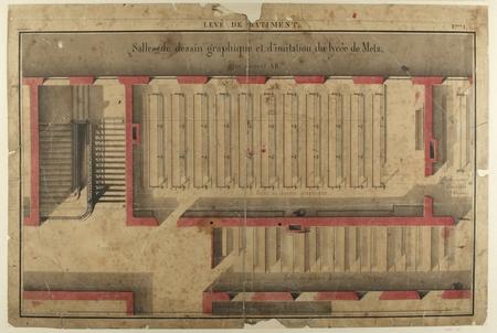 Salles de dessin graphique et d'imitation du Lycée de Metz : plan suivant …
