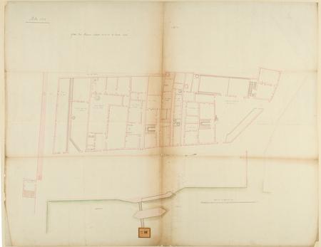 Metz 1739 : plan des maisons situées vis-à-vis la haute seille