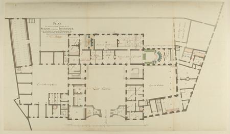 Plan en détail du Rez-de-Chaussée de la Maison ci-devant Intendance : les …