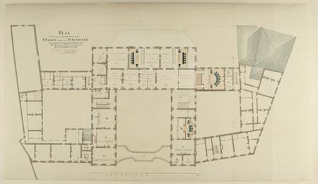 Plan en détail du premier étage de la Maison ci-devant Intendance : les di…