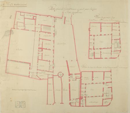 Plan général de la Maison ou pend pour enseigne le Roi Dagobert