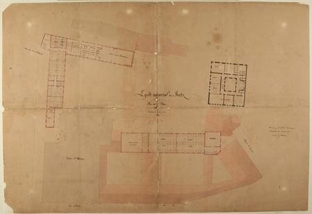 Lycée Impérial de Metz : plan du deuxième étage