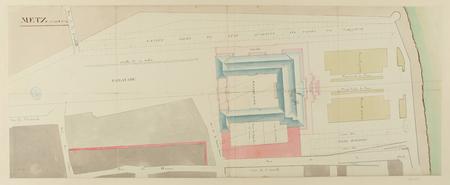 Metz, 25 aoust 1776, plan de masse du nouveau gouvernement avec les abords