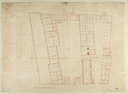 Plan détaillé de la maison (...) ou loge le Gouverneur …