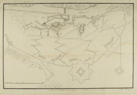Plan de l'Attaque du Poligone d'Artillerie en 1730
