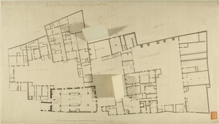 Plan des batimens de l'Abbaye Royale des Dames de Saint Pierre