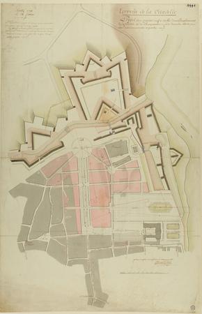 Terrein de la Citadelle : projet d'un quartier neuf à établir...
