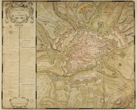 Plan de Metz avec ses projets, 1741