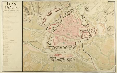 Plan de Metz avec ses projets, 1740