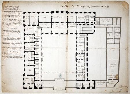 Plan du premier étage du gouvernement de Metz