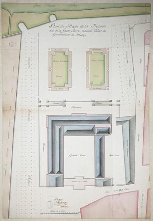 Plan de masse de la maison dite de Haute-Pierre ci-devant hôtel du Gouvern…