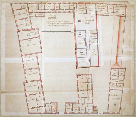 Plan du premier étage du logement de gouverneur cotté 53 qui fait connaist…