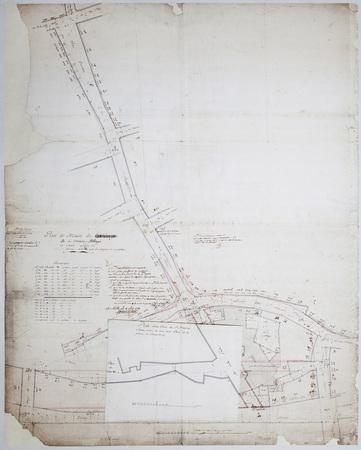 Plan de Masse de la ci-devant abbaye de Saint Louis et de ses abords avec …