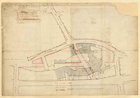 Plan de masse de l'enclos de la ci-devant abbaye de Saint Louis pour faire…
