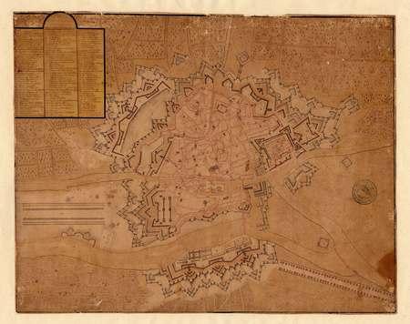 Plan  des ville et citadelle de Metz et ses projets
