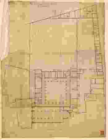Plan de la maison de Saint Clément : rez-de-chaussée