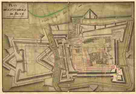 Plan de la citadelle de Metz : 1747