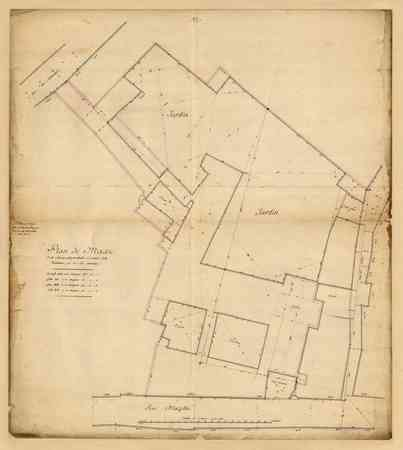 Plan de masse de la Maison Conventuelle ci-devant de la Visitation  et de …