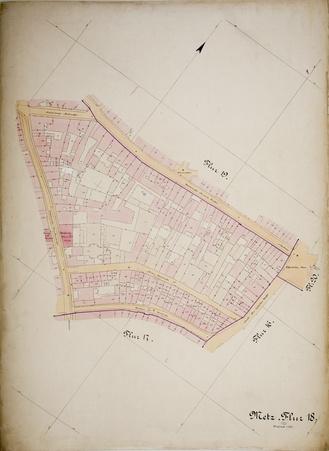 Metz : Plan Cadastral Parcelle 18