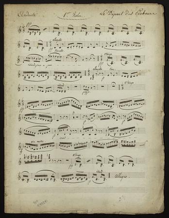 Le départ des Pêcheurs : ensemble de partions d'orchestre