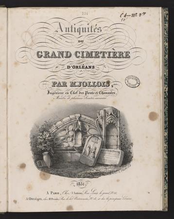Antiquités du grand cimetière d'Orléans