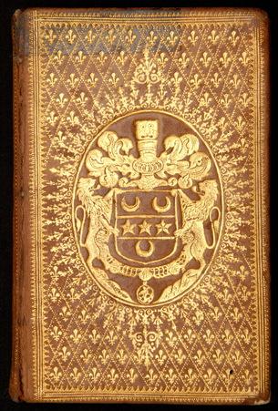 Reliure à semé de fleurs de lys aux armes de Robert-Jean-Antoine Franqueto…