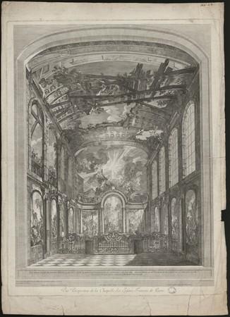 Vuë Perspective de la Chapelle des Enfans trouvés de Paris.