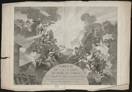 Tableau de la gloire au dessu de l''Autel de la chapelle des enfants trouv…
