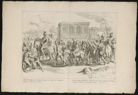 Littorius enfin pris et chargé de chaisnes est mené en Triomphe à Toulouse…