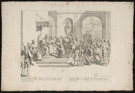 Raymond de St Gilles, Comte de Toulouse … reçoit du Pape Urbain II la Casa…