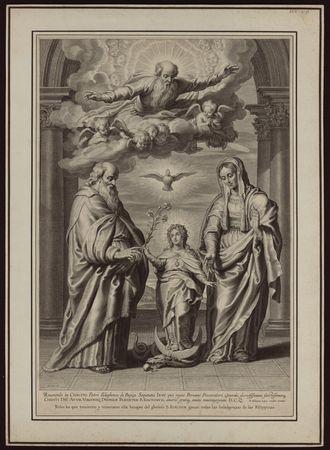 [La Vierge entourée de saint Joachim et de sainte Anne]