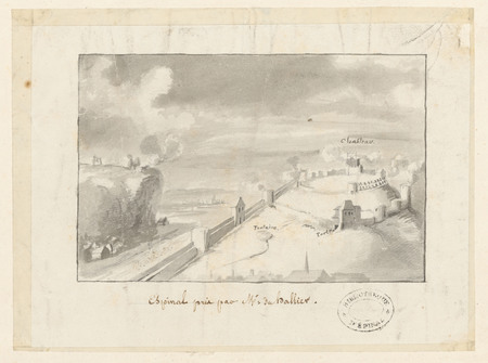 Le château d'Epinal : Espinal pris par M. du Ballier