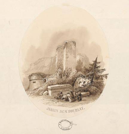 Le château d'Epinal : Jardin de Mr Doublat, Château d'Epinal