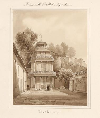 Le château d'Epinal : Kiosk (entrée du jardin)