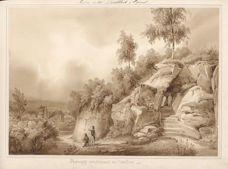 Le château d'Epinal : Passage conduisant au pavillon (entrée), par Charles…