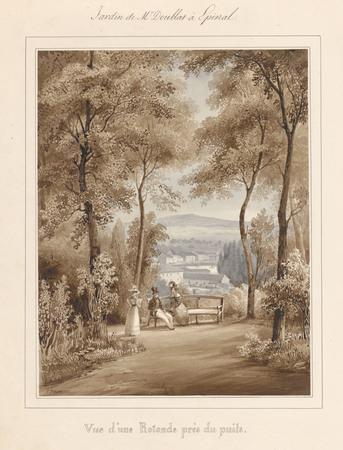 Le château d'Epinal : Vue d'une rotonde près du puits