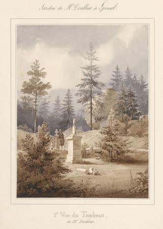 Le château d'Epinal : 1ère vue du tombeau de Mr Doublat, par Charles Pensé…
