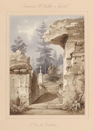 Le château d'Epinal : 2ème vue du tombeau de Mr Doublat
