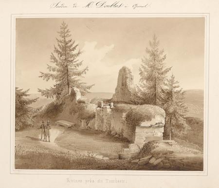 Le château d'Epinal : Ruines près du tombeau