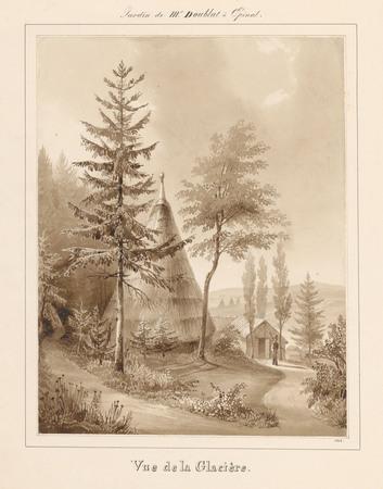 Le château d'Epinal : Vue de la Glacière, en 1828