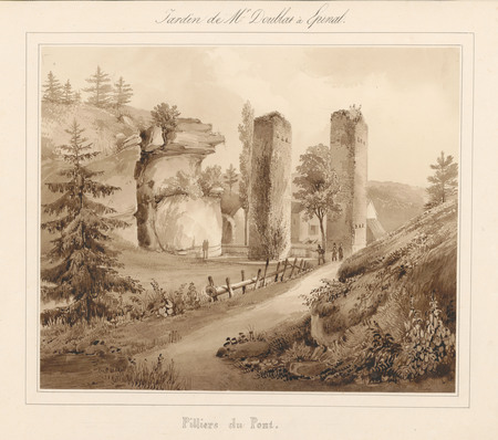 Le château d'Epinal : Piliers du pont