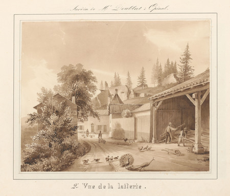 Le château d'Epinal : 2ème vue de la laiterie
