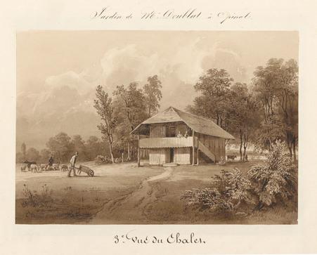 Le château d'Epinal : 3ème vue du chalet, par Charles Pensée en 1834