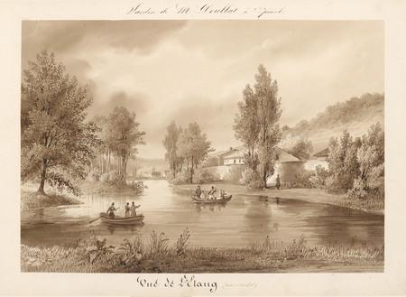 Le château d'Epinal : Vue de l'étang (vallée Saint-Michel)