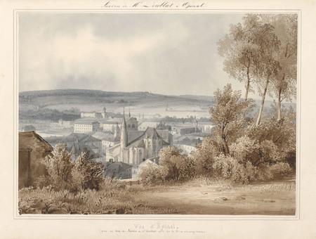 Le château d'Epinal : Vue d'Epinal (prise au sud du jardin de Mr Doublat p…