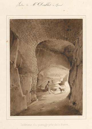 Le château d'Epinal : Intérieur du passage près de la serre, par Charles P…