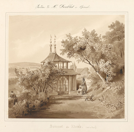 Le château d'Epinal : Sommet du kiosk (sortie du jardin) [Tour chinoise]