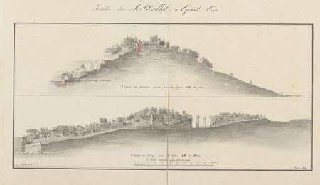 Le château d'Epinal : Plan en dépliant du Jardin de Mr Doublat à Epinal pa…